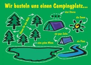 Postkarte-14003-Campingplatz-D66-Puzzle-ReFanCard
